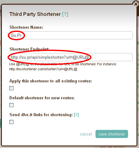 dlvr it - Add Shortener