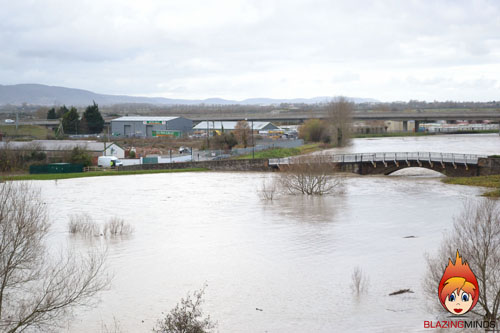 Rhuddlan - Floods - On The Buses Bridge 3