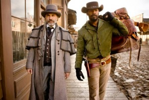 Django Unchained Christoph Waltz and Jamie Foxx