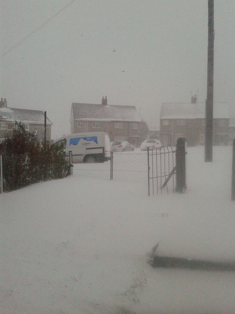 Snow Hits The UK As Spring Is Upon Us