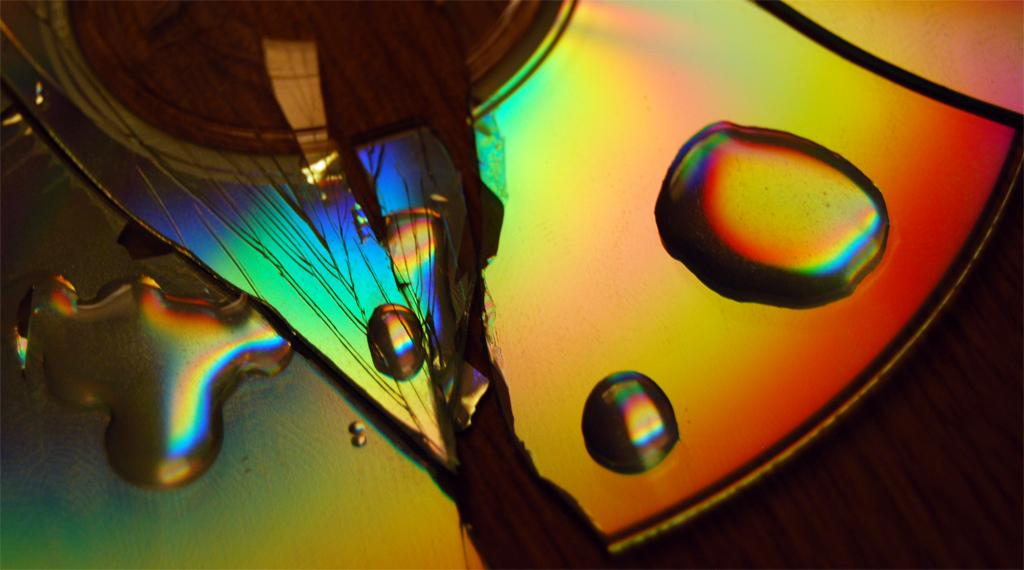 Color Spectrum CD Reflection