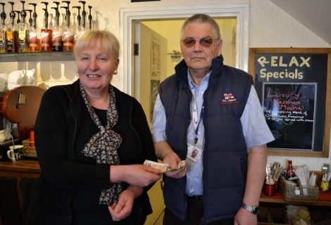 Fundraising With Relax Coffee Lounge To Raise Money For Rhyl Lifeboat