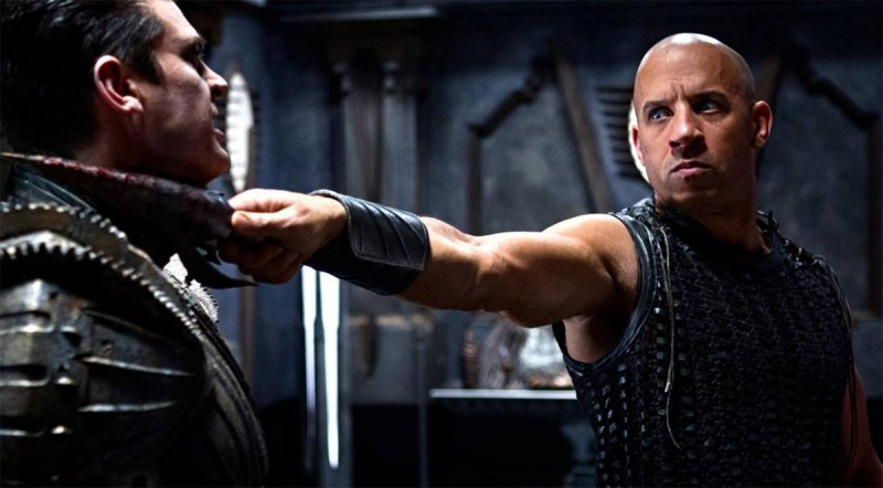 Karl Urban and Vin Diesel