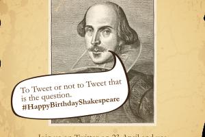 #HappyBirthdayShakespeare as we Celebrate His 450th