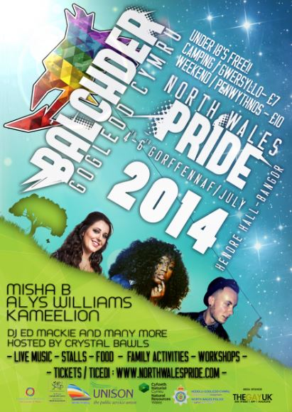 North Wales Pride 2014 4th to 5th July at Hendre Hall