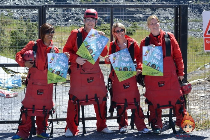 4 Brave Fundraisers For North Wales Pride Took on The Big Zipper!