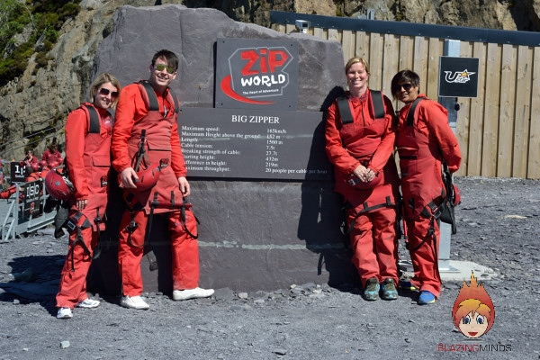 ZipWorld Sign and North Wales Pride Fundraisers