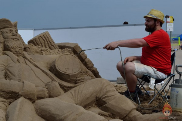 Rhyl Beach Fest Pirate Sand Sculpture