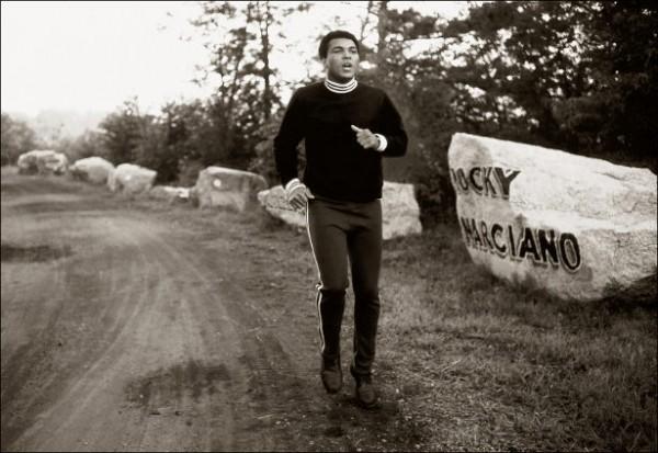 87. Ali running on road