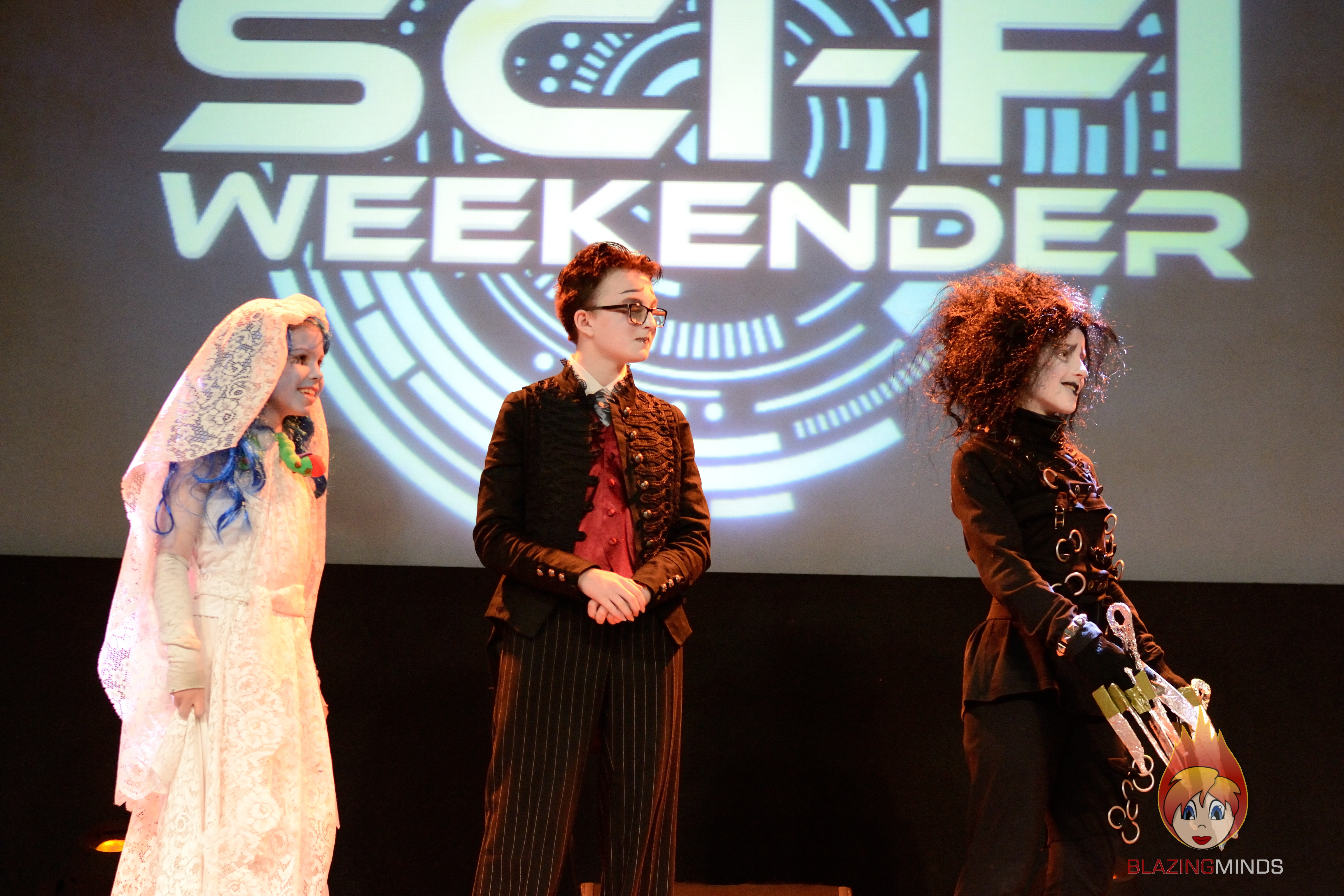 The Burtons, Winners of Sci-Fi Weekender 6's cosplay final (Photo ©2015 Karen Woodham)