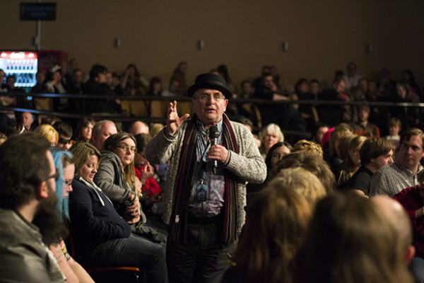 Sylvester McCoy does a Q&A with the audience at SFW6 (Photo ©2015 Karen Woodham)