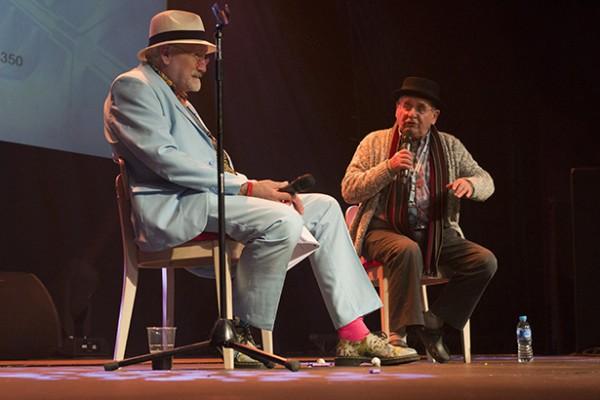 Robert Rankin and Sylvester McCoy at SFW6 (Photo ©2015 Karen Woodham)