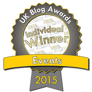Blazing Minds Individual Winner in Events in the UK Blog Awards