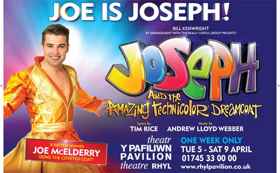 Joseph with X-Factor winner Joe McElderry at Rhyl Pavilion