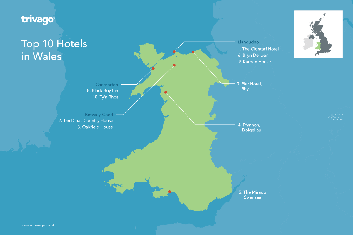 Trivago Reveals Top 20 Hotels in Wales