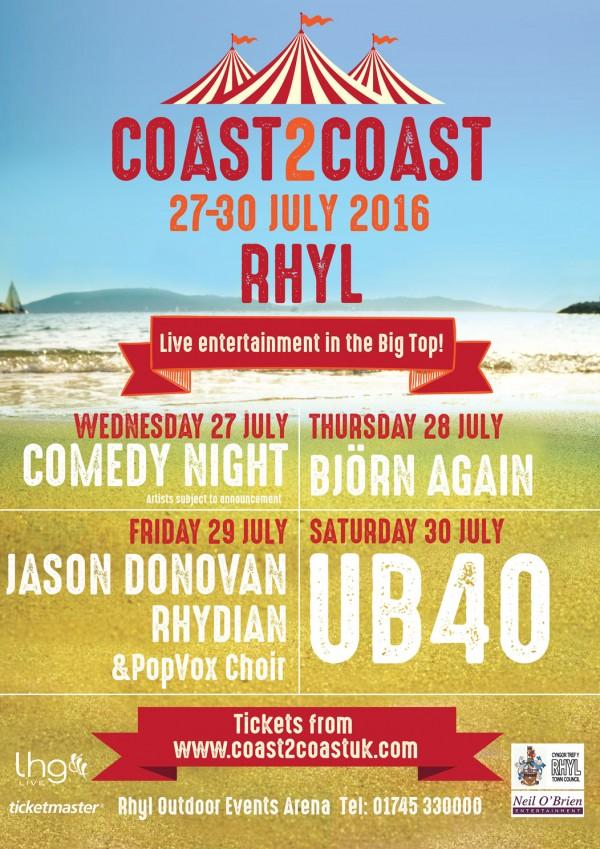 coast2coast lineup poster
