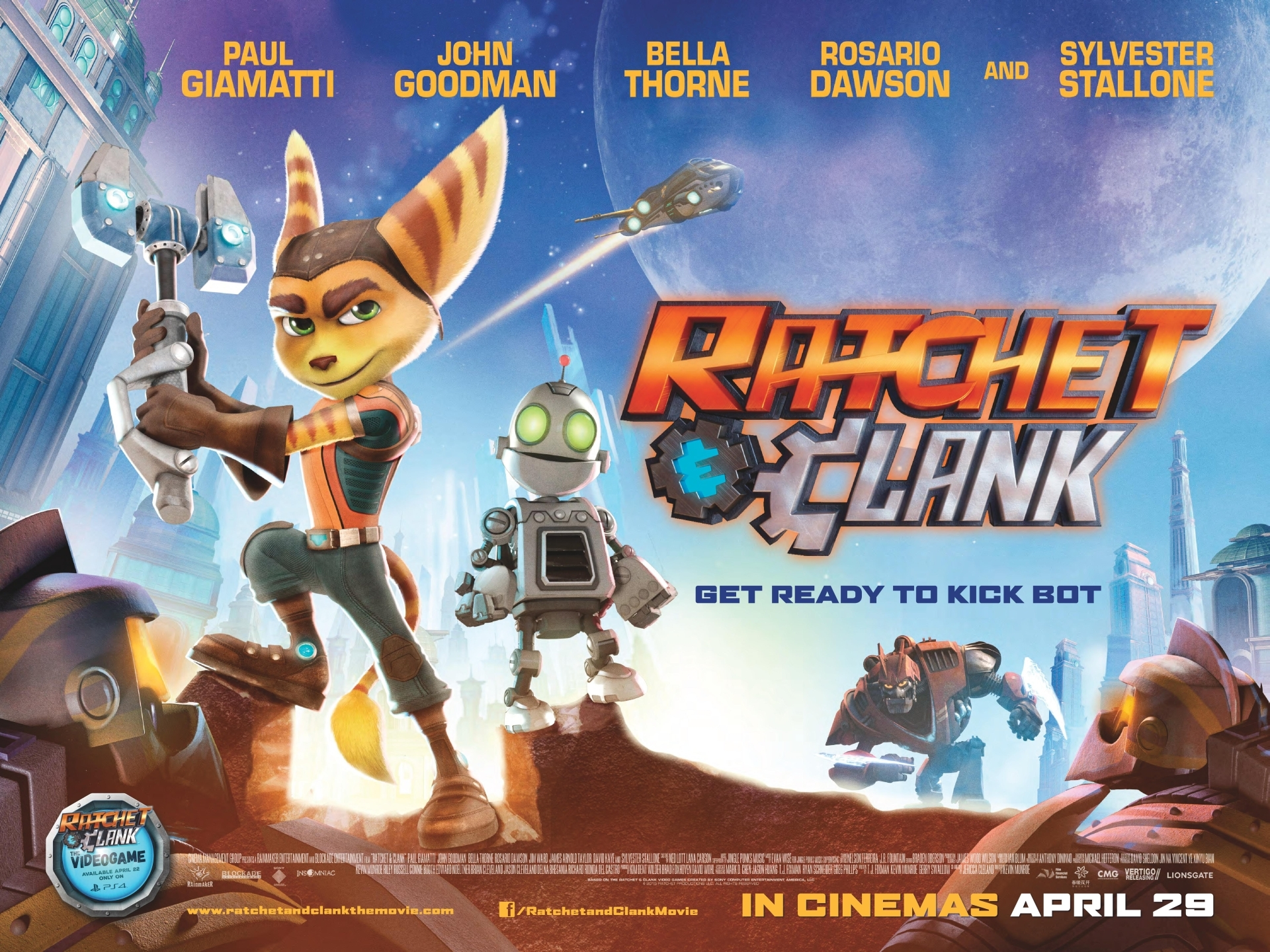 RATCHET & CLANK – Digital Download and DVD Dates