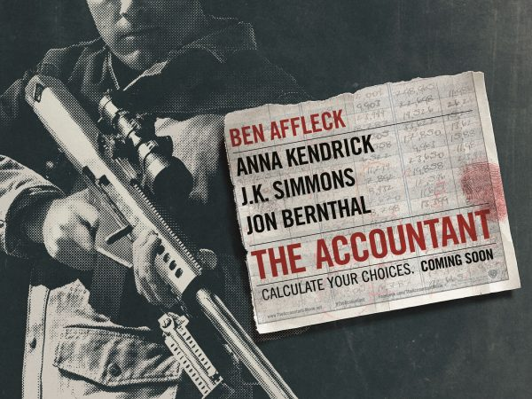 The Accountant Win Official Merchandise with Warner Bros Pictures and Blazing Minds