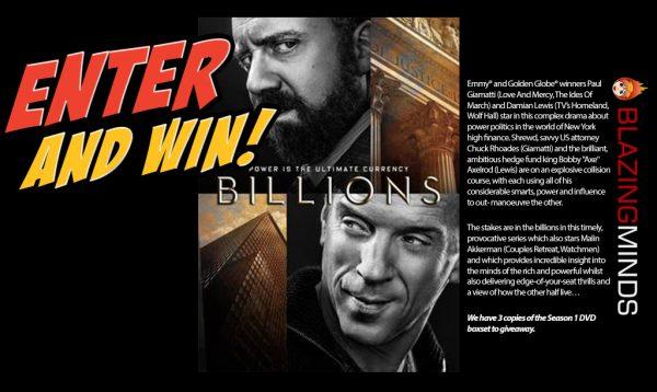 Win Season 1 of Billions on DVD with Blazing Minds