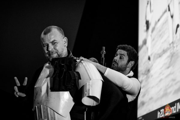 Sandtrooper (Tim Adams) and Han Solo (Stephen Finch) at the Mannequin Challenge Video Shoot