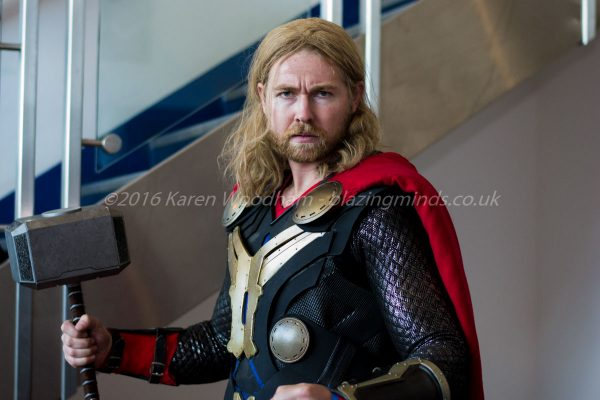 Thor arrives at Wales Comic Con 2016 Part 2