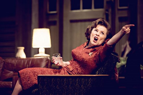 Imelda Staunton in Who's Afraid of Virginia Woolf. Photo by Johan Persson