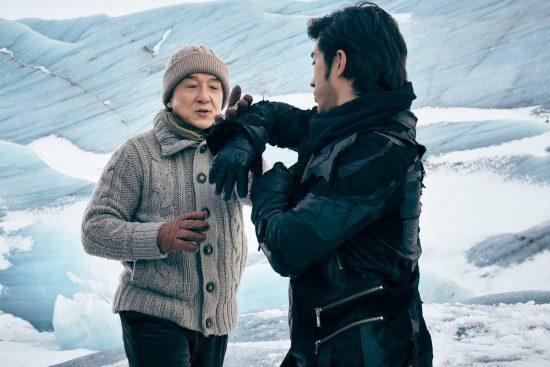 Jackie Chan and Aarif Rahman practise Kung Fu in Iceland