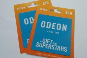 Win 1 of 2 £10 Odeon Cinemas Gift Cards