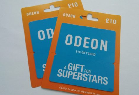 Win 1 of 2 £10 Odeon Cinemas Gift Cards