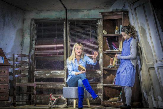 Alice (Rachael Wooding) and Ellie (Naomi Morris) in Wonderland