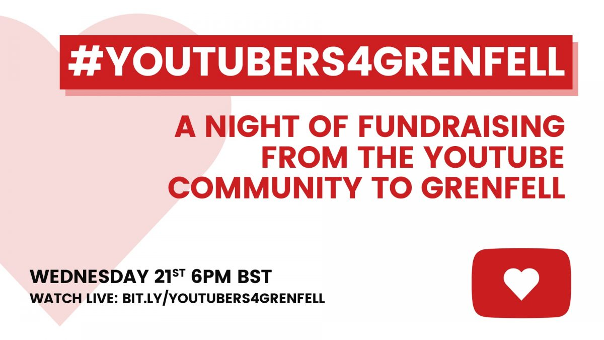 A night of fundraising from the YouTube community to Grenfell