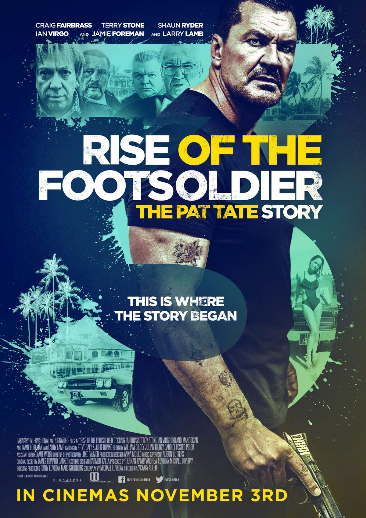 An all-out bare-knuckle prequel to the iconic #Brit crime thriller #RiseOfTheFootsoldier, starring #CraigFairbrass #LarryLamb and #TerryStone, gets a new #trailer and #poster before its UK cinema release in November