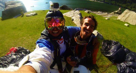 BASE Alexander Poll and Carlos Briceno Schutte in Norway (Alex GoPro) (Still)