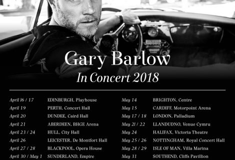 Gary Barlow – New Solo Tour 2018 Announced – Venue Cymru
