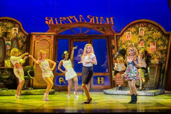 Legally Blonde BEND & SNAP Lucie Jones & Rita Simons plus company Photo Robert Workman