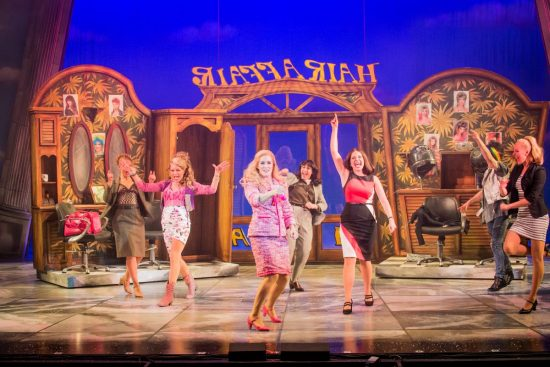 legally blonde the musical heads to the rhyl pavilion blazing minds legally blonde the musical 2017 18 hair affair 3 rita simons 2nd left paulette