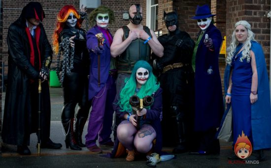 Cosplayers attending Wales Comic Con 2017 (Photo Karen Woodham/Blazing Minds)