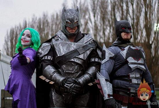 Joker and Two Batmans! Wales Comic Con 2017 (Photo John Sutton/Blazing Minds)