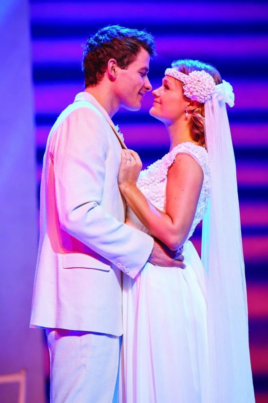 Phillip Ryan (Sky) and Lucy May Barker (Sophie Sheridan) in MAMMA MIA! UK Tour 2017 Photo by Brinkhoff M+Âgenburg