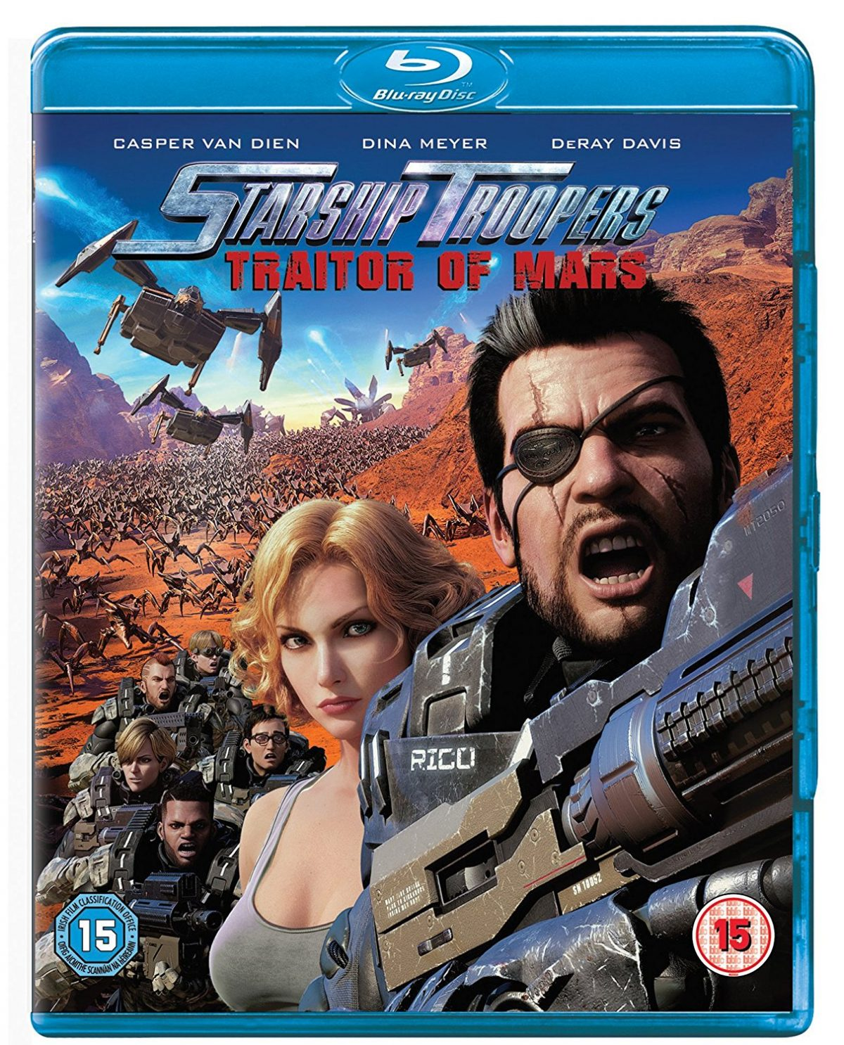 It's the fifth movie in the franchise and the second made in CGI. Casper Van Dien and Dina Meyer return in Starship Troopers: Traitors of Mars.