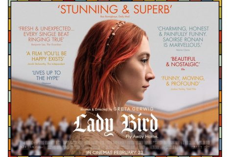 Win A Lady Bird Signed Poster by Saorsie Ronan and director Greta Gerwig