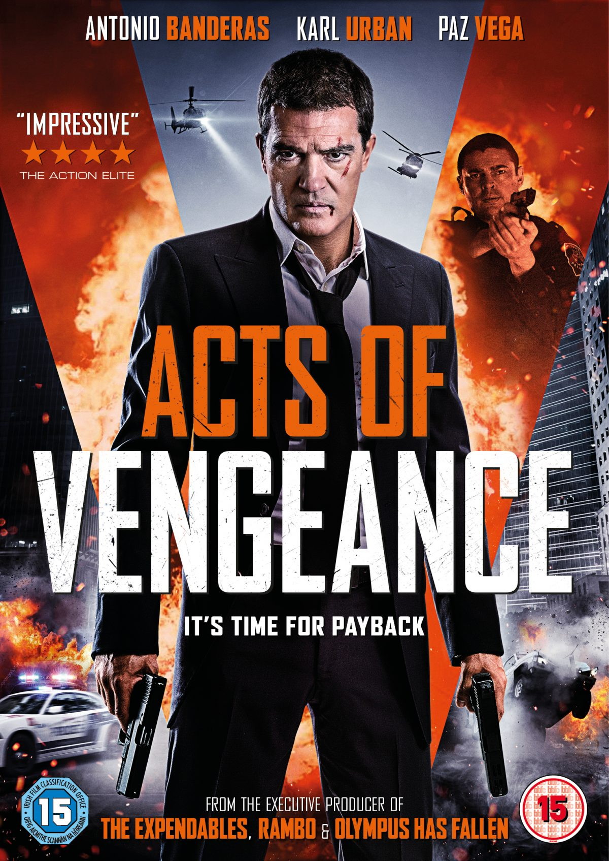 From the producers of The Expendables 1 and 2, Rambo, Olympus Has Fallen and London Has Fallen, comes Acts of Vengeance - an edge of your seat action thriller starring Antonio Banderas and Karl Urban.
