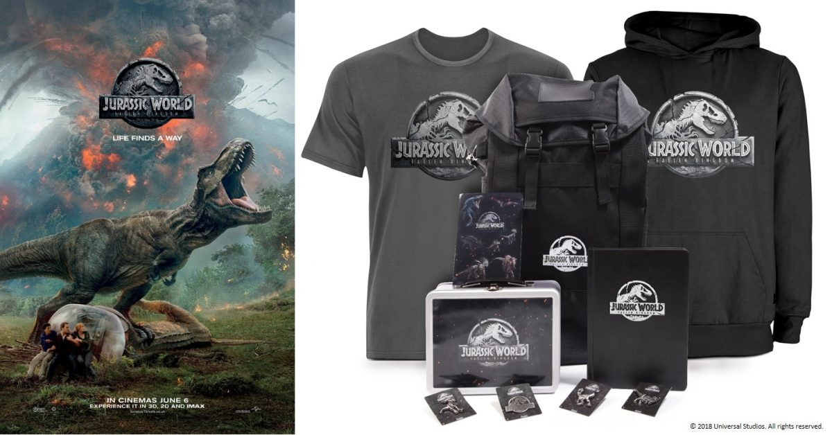 Win 1 of 3 Jurassic World: Fallen Kingdom Official Merchandise Packs