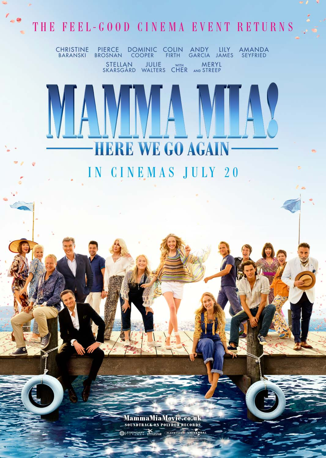 Check out the latest poster and trailer for Mamma Mia! Here We Go Again which is heading to UK Cinemas this July