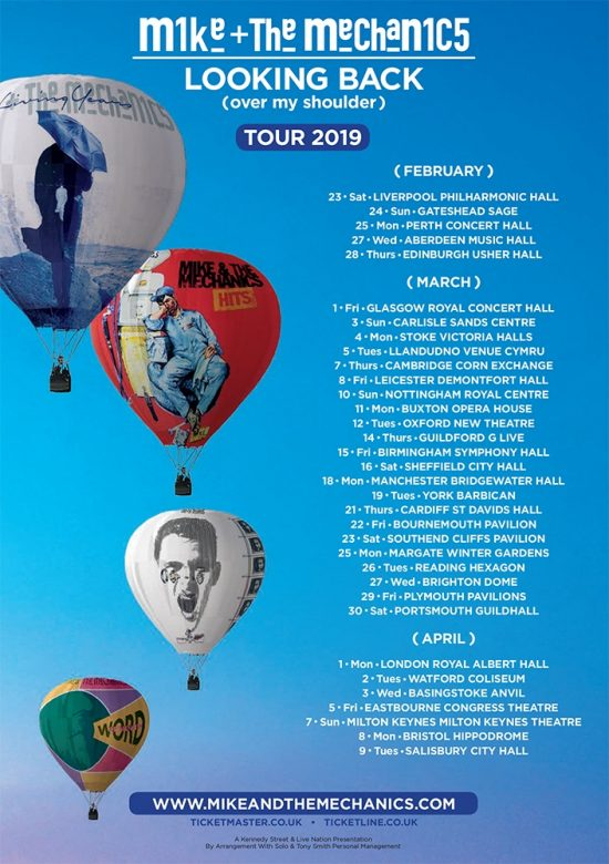 Mike and the Mechanics Tour Dates for 2019