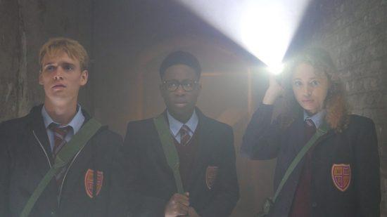 Harry Jarvis, Alhaji Fofana, and Ella-Rae Smith in 2Hrs