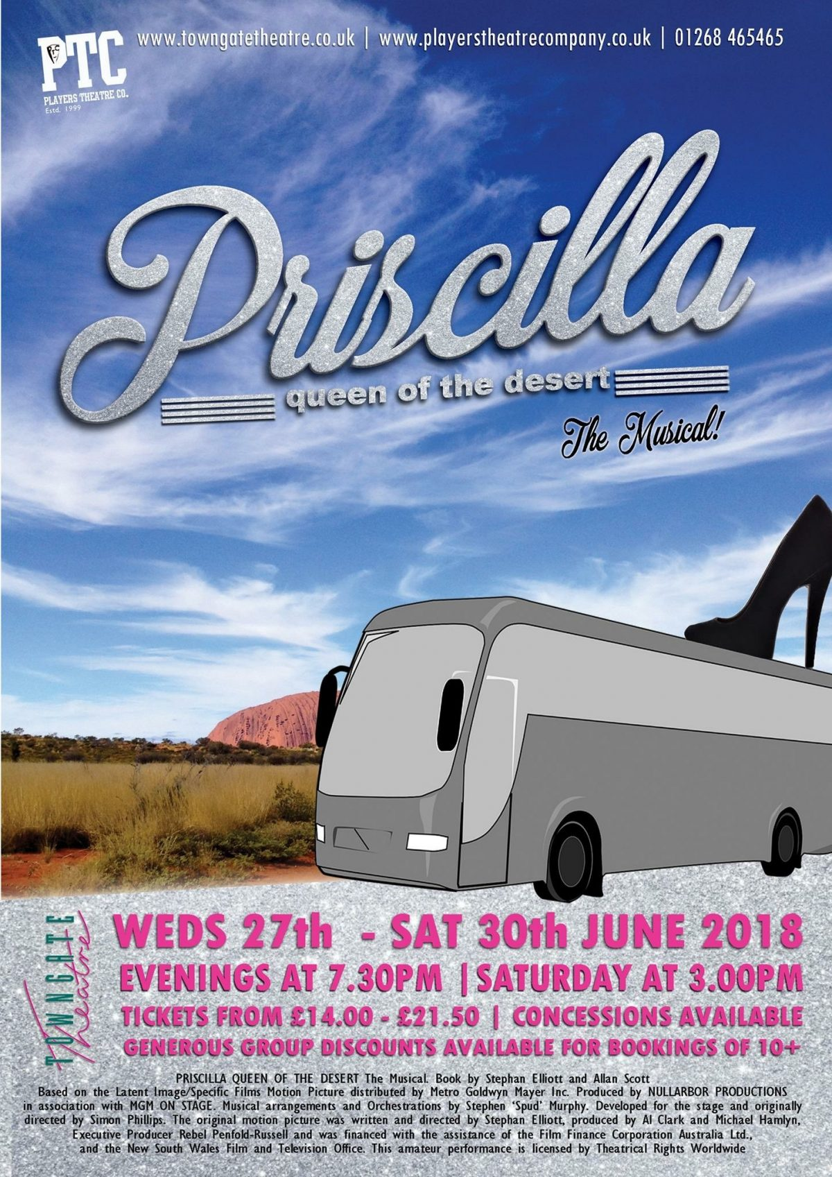 Priscilla Queen of the Desert The Musical heads to The Towngate Theatre, Basildon. Philip Rogers attended a recent dress rehearsal and got a chance to speak with some of the cast about what we can expect from the new production.