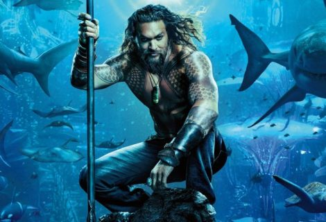 Aquaman New Movie Poster Revealed and it's Shark-tastic!