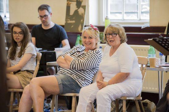 Fern Britton & Pauline Daniels in rehearsals for Calendar Girls The Musical credit Matt Crockett