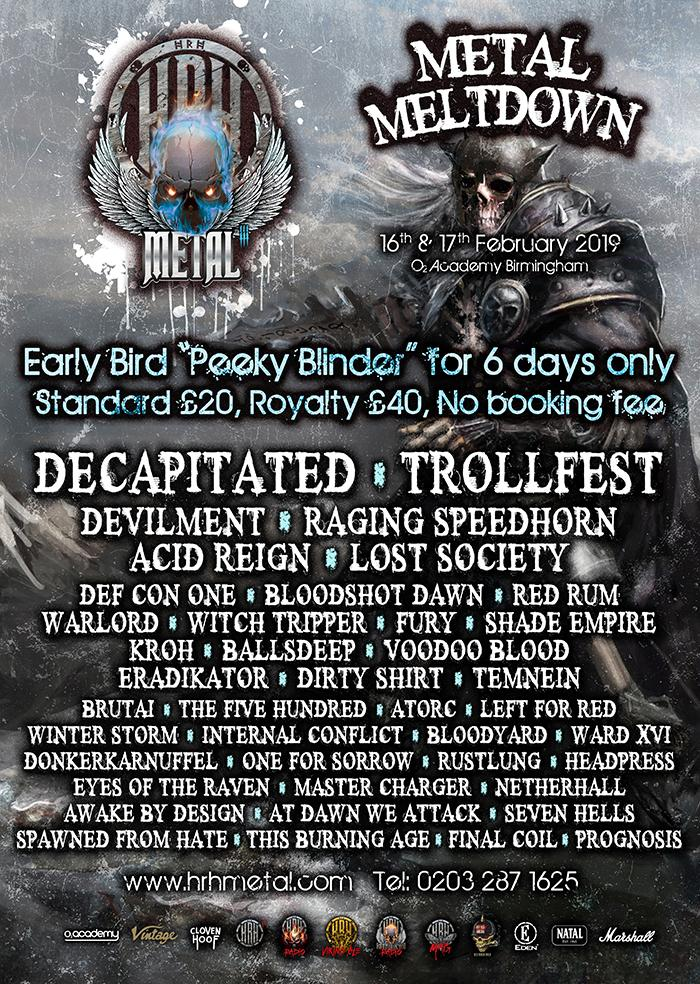 HRH Metal III announces a Metal-tastic lineup for 2019